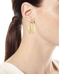 Lana Jewelry Metallic 14k Alias Gradual Curve Hoop Earrings