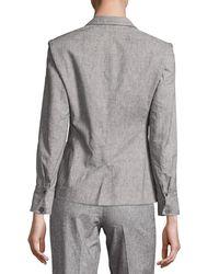 ATM - Gray Tweed Prep School Blazer - Lyst