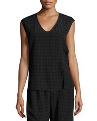 Zero + Maria Cornejo - Black Twisted Plaid Batik Top - Lyst