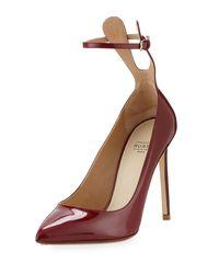 Francesco Russo   Multicolor Patent Ankle-strap 105mm Pump   Lyst
