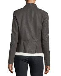 Lafayette 148 New York - Black Alice Weathered-leather Jacket - Lyst