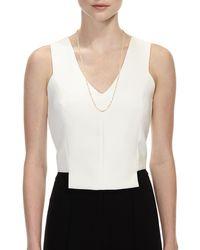 Lana Jewelry Metallic Blake Three-strand Chain Necklace In 14k Gold