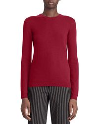 Ralph Lauren Collection - Red 50th Anniversary Crewneck Long-sleeve Cashmere-jersey Sweater - Lyst
