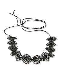 Fallon - Multicolor Scalloped Crystal Lace Choker Necklace - Lyst