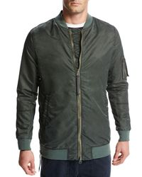 Vince - Green Elongated Aviator Jacket for Men - Lyst