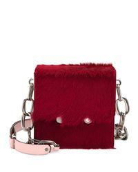 Marni - Red Flap-top Calf Hair Chain Shoulder Bag - Lyst