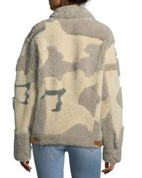 Rag & Bone - Natural Jake Shearling Camouflage Jacket - Lyst