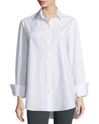Joseph - White Emile Oversized Button-front Poplin Blouse - Lyst