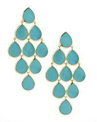 Ippolita - Blue 18k Rock Candy Cascade Earrings In Turquoise - Lyst