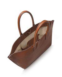 Akris - Brown Asymmetric Leather Tote Bag  - Lyst