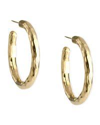 Ippolita | Metallic Glamazon Yellow Gold Hoop Earrings | Lyst