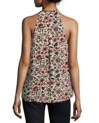 A.L.C. - Multicolor Levi Sleeveless Floral Silk Top - Lyst