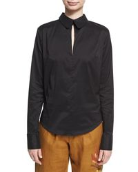 Chufy - Black Backless Sateen Blouse - Lyst