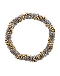 Meredith Frederick - Metallic Audrey 14k Gold And Labradorite Bead Bracelet - Lyst