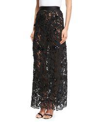 Johanna Ortiz | Black Cana Lace High-waist Maxi Skirt | Lyst