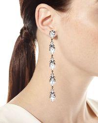 Auden - White Olivia Linear Crystal Drop Earrings - Lyst