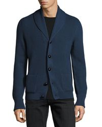 Tom Ford - Blue Wedgewood Ribbed Wool Cardigan for Men - Lyst
