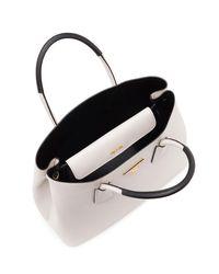 Prada - White Saffiano Cuir Small Double Bag - Lyst