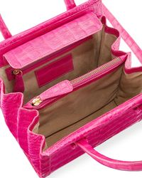 Nancy Gonzalez | Pink Small Double-handle Crocodile Handbag | Lyst