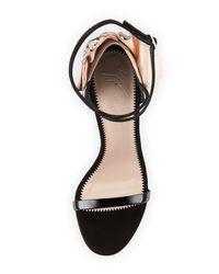 Giuseppe Zanotti Black Crystal Petal-embellished Ankle-wrap Sandal