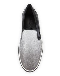 Jimmy Choo - Gray Grove Men's Glittered Slip-on Sneaker for Men - Lyst