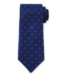 Charvet - Blue Large Dot-print Silk Tie for Men - Lyst