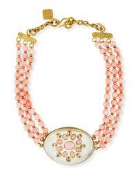 Ashley Pittman - Pink Bendi Beaded Coral Necklace - Lyst