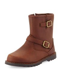 Ugg - Brown Harwell Leather Buckle-trim Boot - Lyst