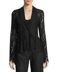 Nanette Lepore - Black Genevieve One-button Lace Jacket - Lyst