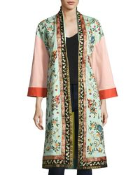 Alice + Olivia | Multicolor Amelia Oversized Embroidered Coat | Lyst