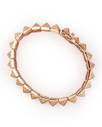 Eddie Borgo - Pink Small Pave Pyramid Bracelet - Lyst
