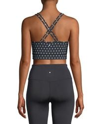 Kate Spade - Black Polka-dot Scallop Sports Bra - Lyst