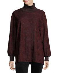 M Missoni - Purple Metallic Jersey Turtleneck Sweater - Lyst