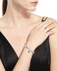 Sydney Evan - Multicolor 8mm Beaded Corundum Bracelet With Sapphire & Diamond Flower Eye Charm - Lyst
