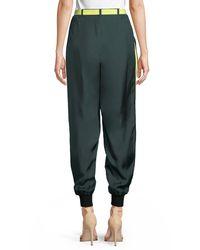 Robert Rodriguez - Green Belted Silk Track Pants - Lyst