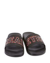 Givenchy - Black Real Eyes Pool Slide Sandal for Men - Lyst