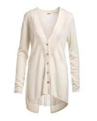 Elie Tahari - White Amber Wool Sweater - Lyst