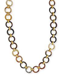 Ashley Pittman - Metallic Mtego Mixed Horn Link Necklace - Lyst