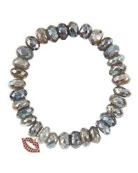 Sydney Evan | Gray Design Your Own Bracelet (made To Order) | Lyst