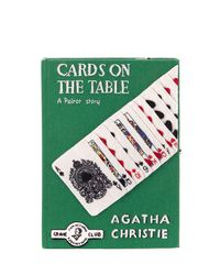 Olympia Le-Tan Green Cards On The Table Clutch