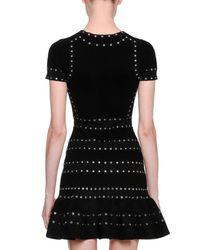 Alexander McQueen - Black Knit & Chenille Dress  - Lyst