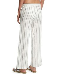 Onia - Multicolor Mila Striped Wide-leg Coverup Pants - Lyst