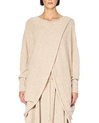 Stella McCartney - Pink Knit Overlap Dolman-sleeve Sweater - Lyst