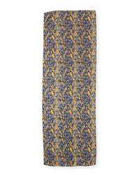 Eskandar - Blue Woven Cashmere Scarf - Lyst