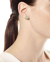 Sydney Evan - Metallic Large Pavé Diamond Happy Face Stud Earring - Lyst
