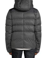 Moncler Grenoble Gray Rodenberg Hooded Puffer Coat for men