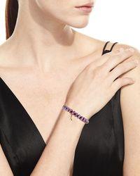 Sydney Evan - Red Moonstone Bead & 14k Stiletto Charm Bracelet - Lyst
