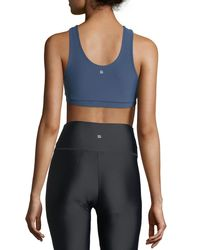 Lanston Blue Cara Strap Performance Sports Bra