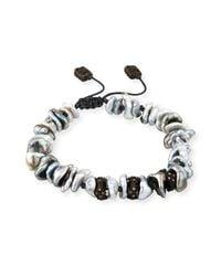 Armenta - Black Old World Midnight Keshi Pearl Bracelet With Champagne Diamonds - Lyst