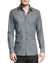 Tom Ford - Black Micro Dot-print Sport Shirt for Men - Lyst